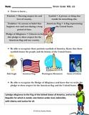 Social Studies: Patriotic Symbols Assessment and Study Guide