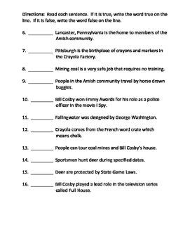 Social Studies: Pennsylvania- K is for Keystone Tests and Study Guides