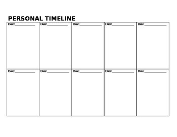 Social Studies Personal Timeline  History Project