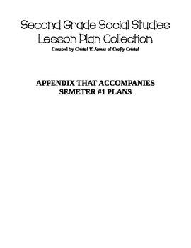Social Studies Plans Semester #1 Appendix