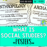 Social Studies Posters - Black and White