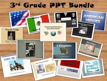 Social Studies PowerPoint Bundle for 3rd grade (TEKS)
