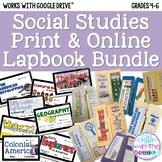 Social Studies Print & Online Lapbook/Interactive Notebook Bundle
