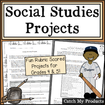 Social Studies Projects Bundle for Fourth and Fifth Graders