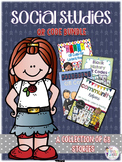 Social Studies QR Code Bundle: 68 Stories For Daily Five Listen to Reading