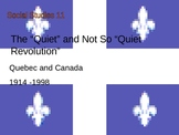 Social Studies - Quebec Nationalism The Quiet Revolution PowerPoint