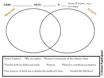 Social Studies Quiz:  Includes Marco Polo, Zheng He, and Kublai Kahn