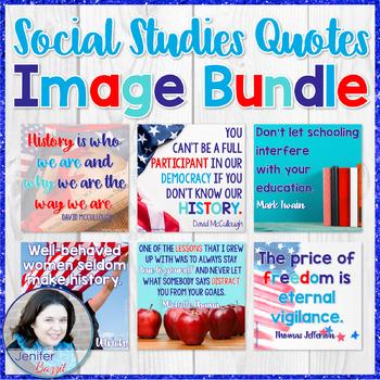 Social Studies Quotes Image Bundle