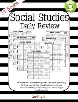 Social Studies: REVIEW Test PREP by Tidy Teacher | TpT