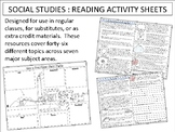 Social Studies Reading Activity Sheets : Complete Set