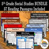 Social Studies Reading Comprehension BUNDLE (homework, review)