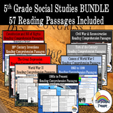 Social Studies Reading Comprehension BUNDLE (homework, review)