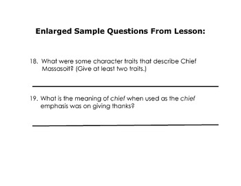 Social Studies, Reading Comprehension,Vocabulary ORIGIN OF THANKSGIVING w/ 32 Qs