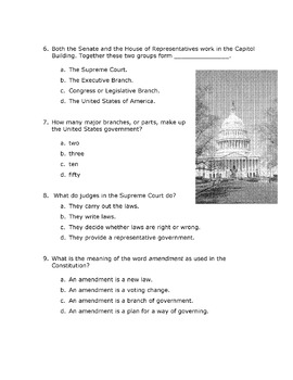 History Social Studies Reading U.S. CONSTITUTION Main Ideas, Details, Inferences