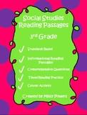 Social Studies Reading Passages 3rd Grade