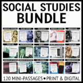 Social Studies Reading Passages Bundle