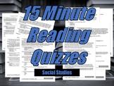 Social Studies Reading Quiz Bundle