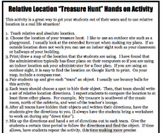 Social Studies Relative Location Treasure Hunt Activity