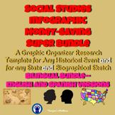 Social Studies Research Infographic Graphic Organizers Super Bilingual Bundle