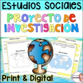 Social Studies Research Project in Spanish/Geography and Culture