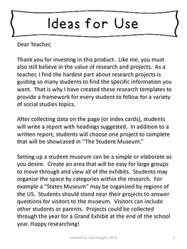Social Studies Research Projects