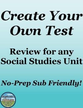 Social Studies Review Activity Make a Test