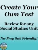 Social Studies Review Activity Make a Test