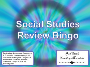 Social Studies Review Bingo