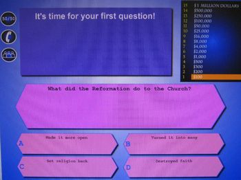 Social Studies Review Game (Reformation 2)