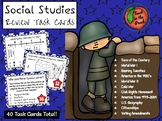 Social Studies Review Task Cards  **EDITABLE**