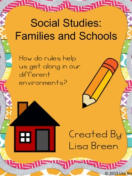 Social Studies: Rules at Home and School Printable Activities