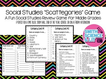 "Social Studies ""Scattegories"""