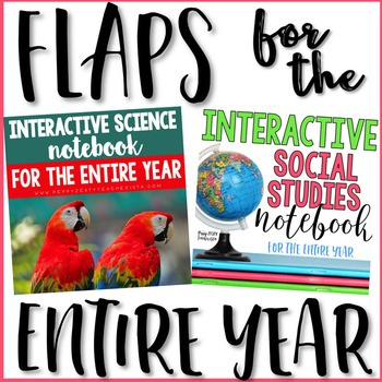 Social Studies & Science Flaps for Notebooks [Year Bundle]