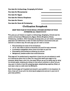 Social Studies Scrapbook Project Explanation, Examples, Templates & Rubric