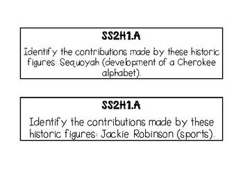 Social Studies- Second Grade Georgia Standards of Excellence