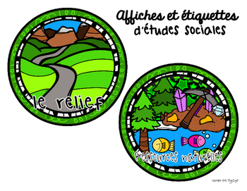 Social Studies Signs & Labels in French