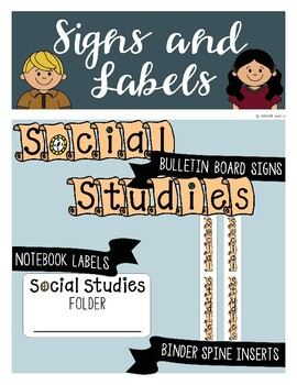Social Studies Signs and Labels