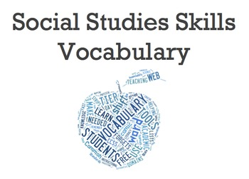 Social Studies Skills Vocabulary