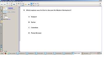 Social Studies Smart board, Grade 3 Explorers, Senteo quiz, SOL test Prep