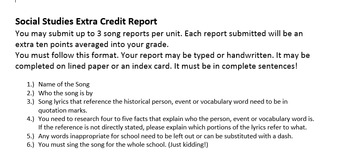 Social Studies Song Report