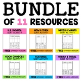 Social Studies Sorting Activities Bundle