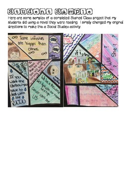 Social Studies Stained Glass Project
