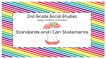 Social Studies Standards 2nd Grade