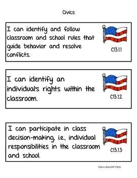 Social Studies Standards First Grade