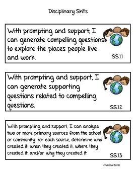 Social Studies Standards First Grade NVCAS