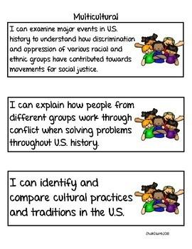 Social Studies Standards Second Grade NVCAS