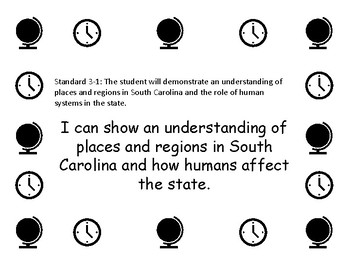 Social Studies Standards and I Can Statements (South Carolina)