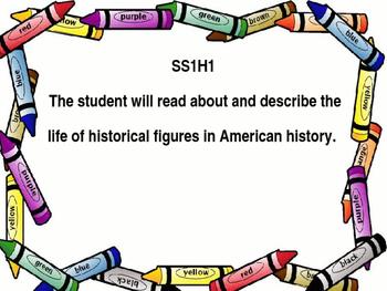 Social Studies Standards for 1st grade.