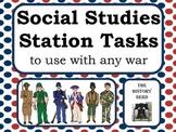 Social Studies Station Tasks for any war