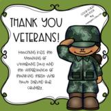 Social Studies Story #2 (Veterans Day): Color-N-Read Mini Book
